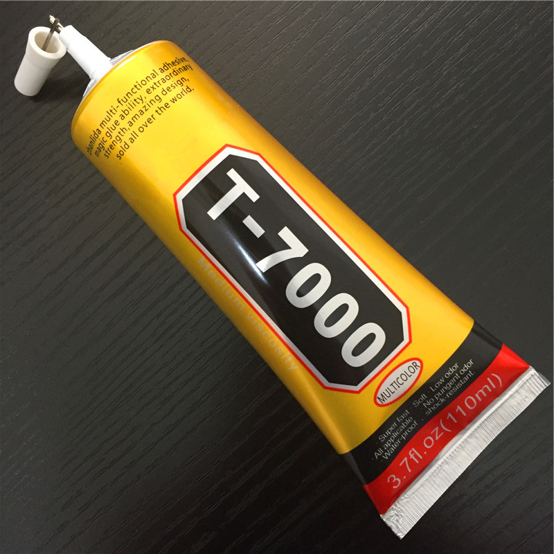 <font><b>T7000</b></font> <font><b>110ml</b></font> Multipurpose Adhesive Rhinestone DIY Phone Screen Frame Epoxy Resin Sealant Super Black Liquid Glue T-7000 Nail Gel image