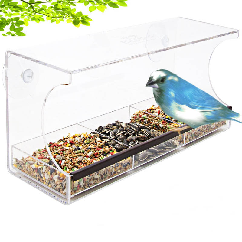 bird feeders graybunny window feeder clear acrylic thick