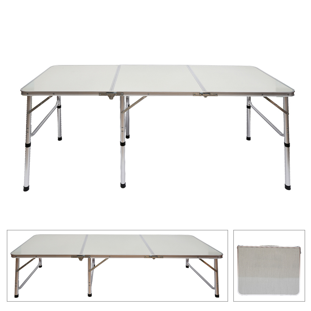 Portable Aluminum Alloy 3 Fold Table Adjustable Light Weight Foldable Table for Camping Outdoor Picnic Hot