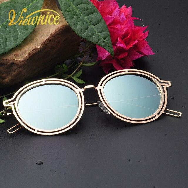 Viewnice 2018 Mewah Vintage Yang Terpolarisasi Kacamata Kacamata Bulat  Wanita Pengaruh Kecil Lunette Soleil Femme Hitam d232e38526