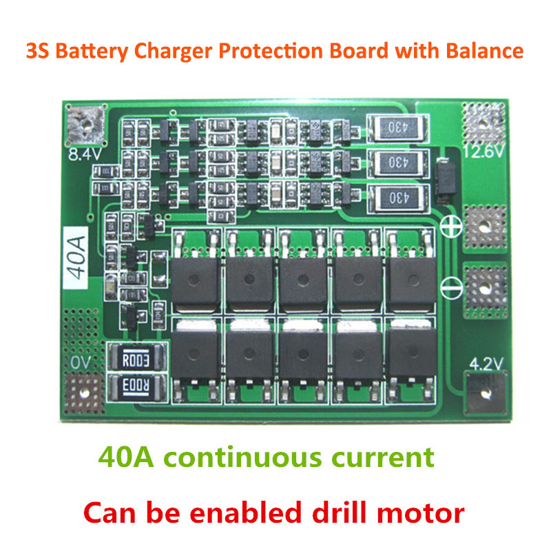 1S/2S/3S/4S/5S Li-ion Lithium Battery 18650 Charger PCB BMS Protection Board Lipo Cell Module with Balancer image