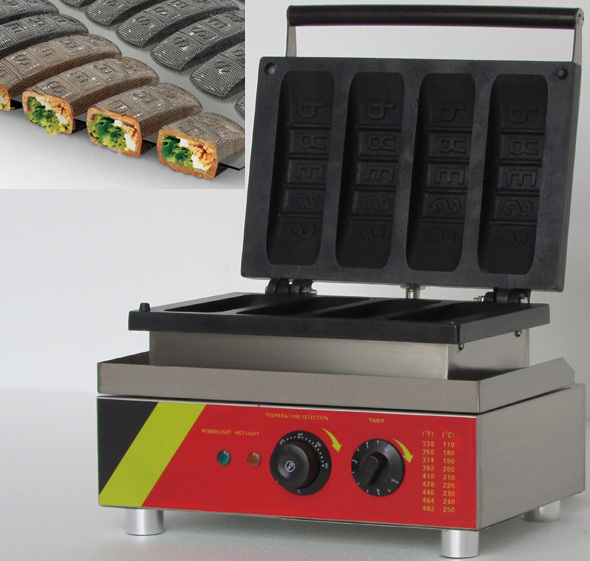 Electric Muffin corn  dog waffle making machine _lolly hot dog waffle machine