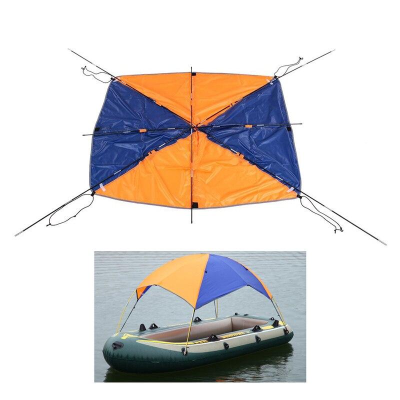 Gonflable Bateau Kayak Accessoires De Pêche Sun Shade Pluie Couvert Kayak Kit Voilier Auvent Capot Supérieur 2-4 personnes En Bateau abri