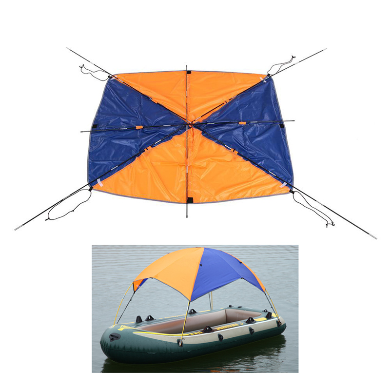 Inflatable Boat Kayak Accessories <font><b>Fishing</b></font> Sun Shade Rain Canopy Kayak Kit Sailboat Awning Top Cover 2-4 persons Boat Shelter