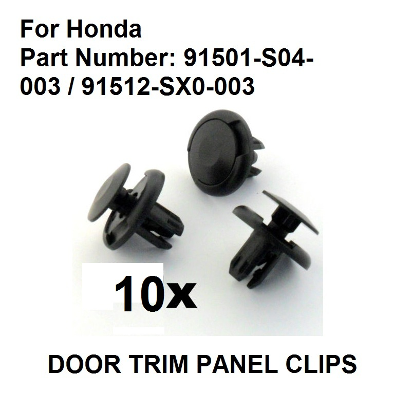 Liners Honda 8mm Trim Clip for Bumpers Splashguards