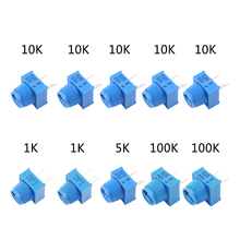 MCIGICM потенциометр комплект 1K 5K 100K 10K Ом макет отделка потенциометра с ручкой для Arduino