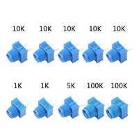 MCIGICM kit Potenziometro 1 K 5 K 100 K 10 K Ohm Tagliere Trim Potenziometro Con La Manopola Per Arduino