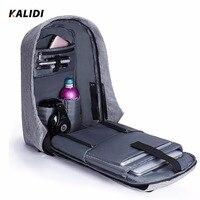 KALIDI Men Laptop Backpack Travel 15 6 17 3 Inch Waterproof Anti Theft Backpack USB Multifunction