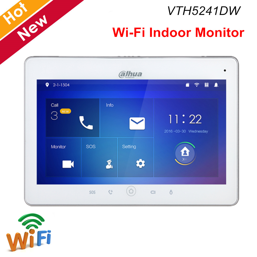 Monitor interno de vídeo de dahua intercom vth5241dw wifi 10