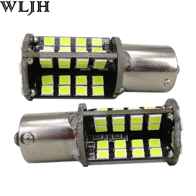 WLJH 2x Led Light Bulb P21W 1156 BA15S LED 79 2835 SMD Canbus 12v Auto Lighting Backup Reversing Reverse Lamp For Saab 9-5 9-3 wljh 2x canbus 20w 1156 ba15s p21w led bulb 4014smd car backup reverse light lamp for bmw 228i 320i 328d 328i 335i m3 x1 x4 2015