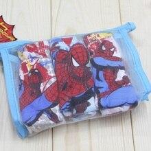2016 NEW child cotton underwear kid's cartoon spider man panties boy spiderman shorts 3 designs 3ps/lot in retail bag, C144