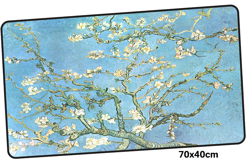 van gogh mousepad gamer 700x400X3MM gaming mouse pad large HD print notebook pc accessories laptop padmouse ergonomic mat