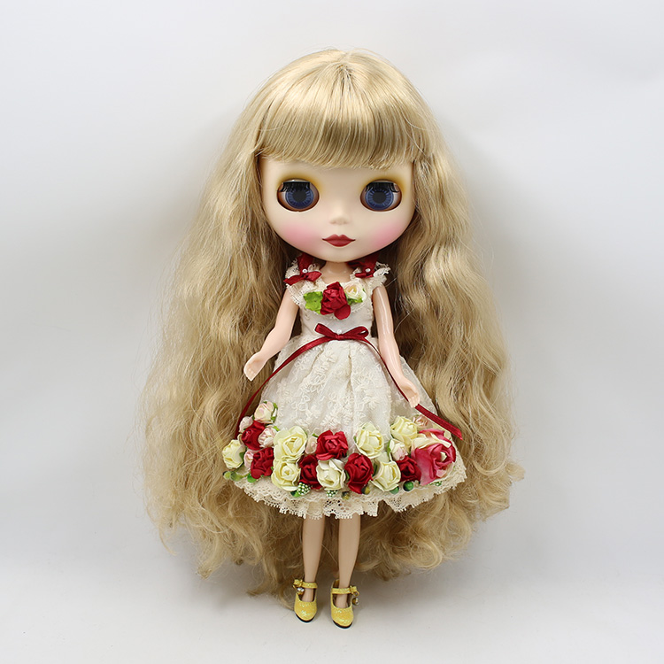 nude blyth doll for girls long wig doll toys for children free shipping nude blyth doll brown wavy wig doll toys for girls
