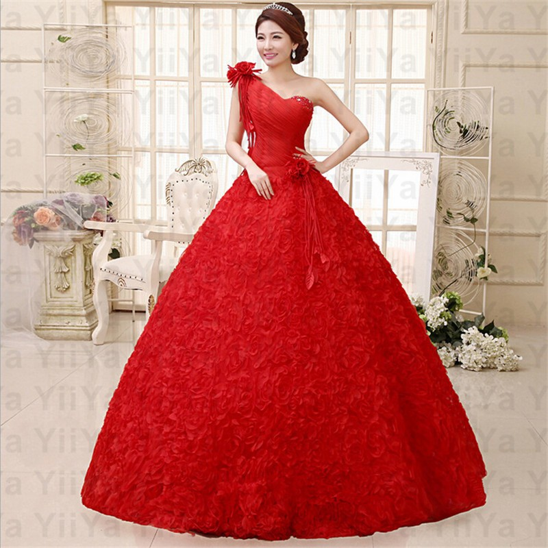 Beautiful Red Rose Bridesmaid Dresses Pictures - Wedding Plan Ideas ...