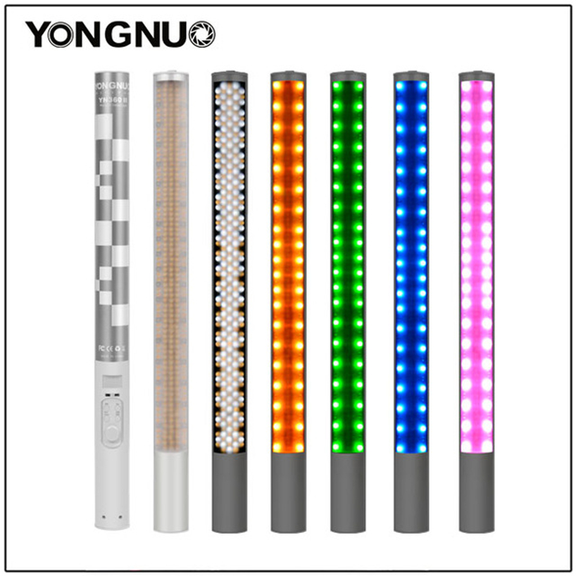 Yongnuo YN360 YN360 II Handheld Ice Stick LED Video Light built-in battery 3200k to 5500k RGB colorful controlled by Phone AppYongnuo YN360 YN360 II Handheld Ice Stick LED Video Light built-in battery 3200k to 5500k RGB colorful controlled by Phone App