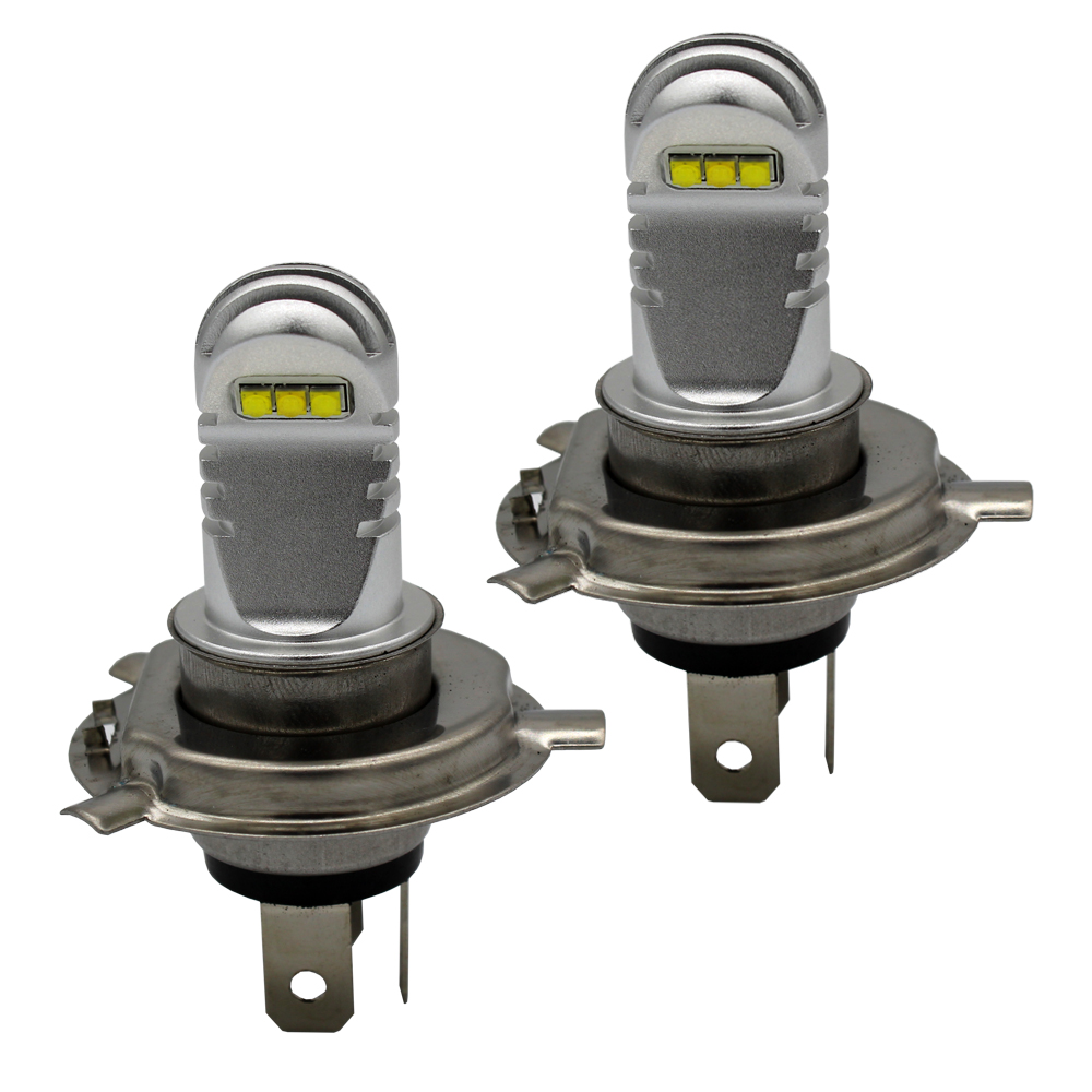 2PCS F1 H4 Automotive LED Bulbs Car Bulbs 30W Aviation aluminum Car Headlight H4 LED Auto Lamp White 6000k Yellow 3000k Red Blue