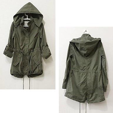 Femelle Printemps Automne Militaire Femmes Green Tranchée Coat Nouveau À Pour Trench Capuchon Mode Cordon Manteau Army 2016 nN8vm0w