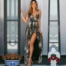 クラブドレス 新セクシーな背中ノースリーブスパゲッティストラップディープ V 夏女性スパンコールセレブイブニングパーティードレス