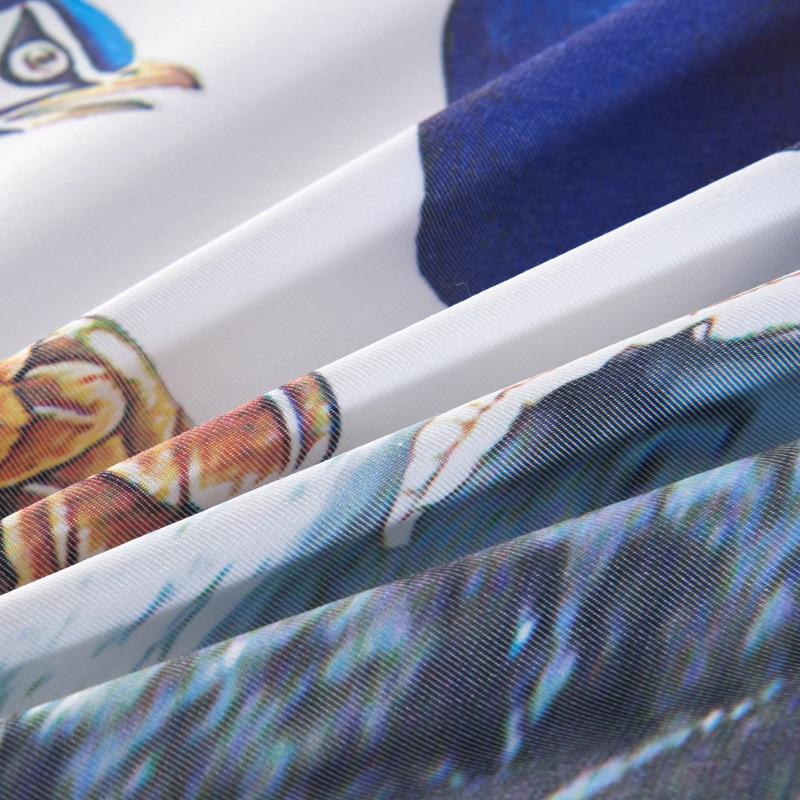 Paw 3D drukowanie jedwabiu kołdra letnia kołdra cztery pory roku koc zmywalny Kołdra jedwabna w Pierzyny i kołdry od Dom i ogród na  Grupa 3