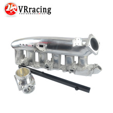 VR RACING-NEW FOR R32 R33 R34 RB25DET Polished Intake Manifold+80MM Throttle Body+RB25DET Fuel Rail VR-IM32PH+6980S+5439BK