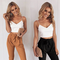 2017 Summer Camisole Vest Chalaza Leisure Time Trousers Twinset Cross border Electricity Suppliers Foreign Trade 2 Pieces Sets