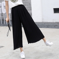 9678d714aec Custom Review Summer Wide Leg Pants Women High Waist Pleated Pants Loose  Thin Section Wide Ankle Length Pants Women Clothes