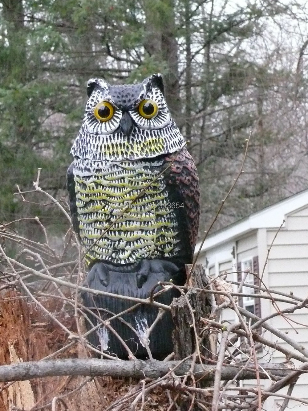 LARGE REALISTIC OWL DECOY WITH Pneumatic ROTATING HEAD