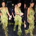 Мода Звезды Женщины сексуальное кисточкой платье костюмы Ночной Клуб певица DJ показать одежда этап производительность одежда