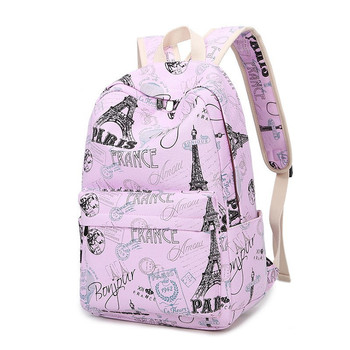 Printing Women School Bag Backpack For Teenage Girls Backpacks Canvas Children Schoolbag Women Book Bags new children school bags for girls boys backpack kids book bag child printing backpacks set for teenage girls schoolbag suit