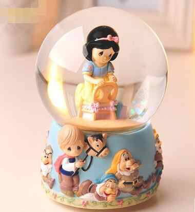 RONG-719+ Snow white crystal ball music box music box Valentine's Day gift to send his girlfriend bestie Girl Birthday