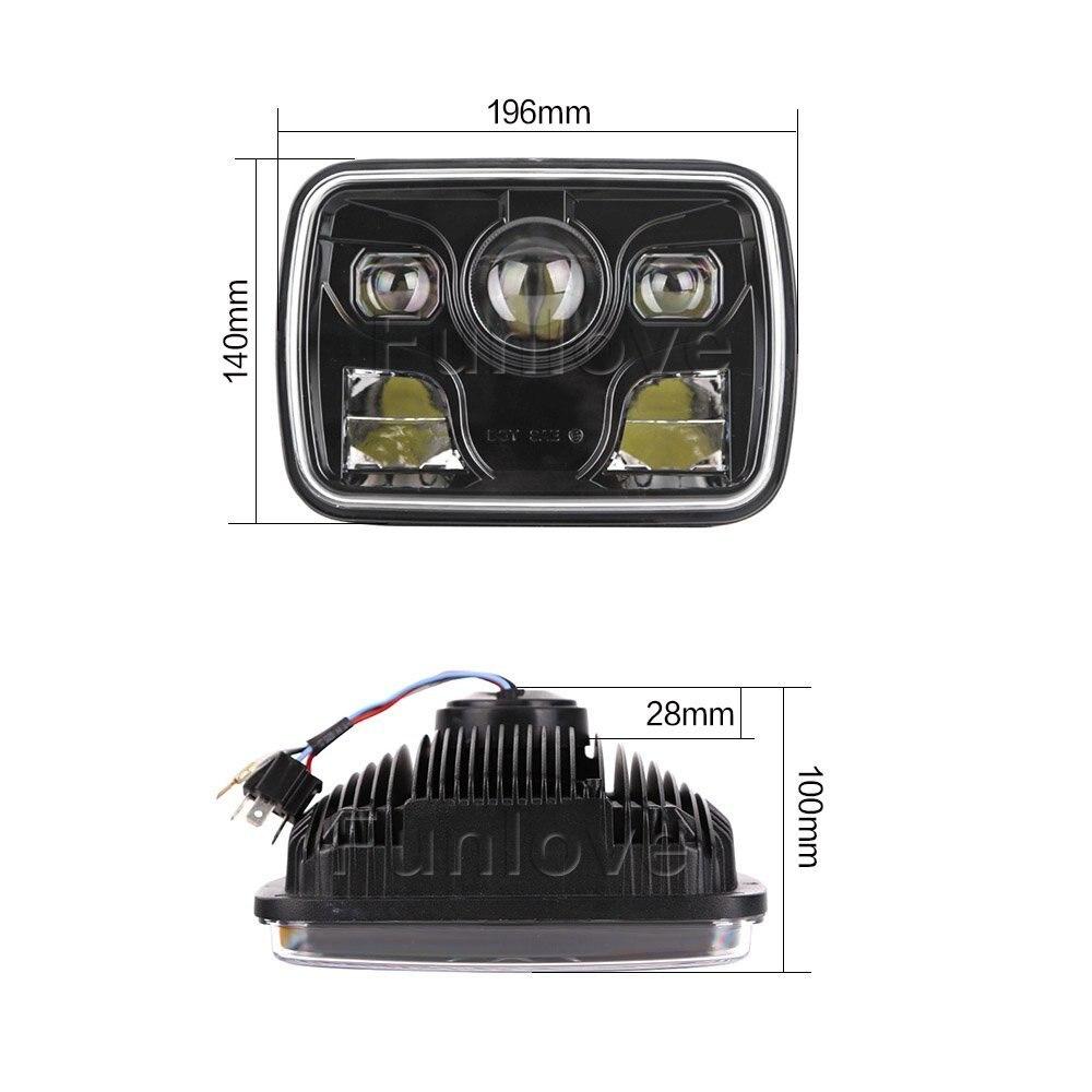 WHDZ 1 шт. литья под давлением Алюминий площадь 7X6 дюймов светодио дный фары с высокой и низкой луч ходовые огни проектор для Jeep Cherokee грузовиков