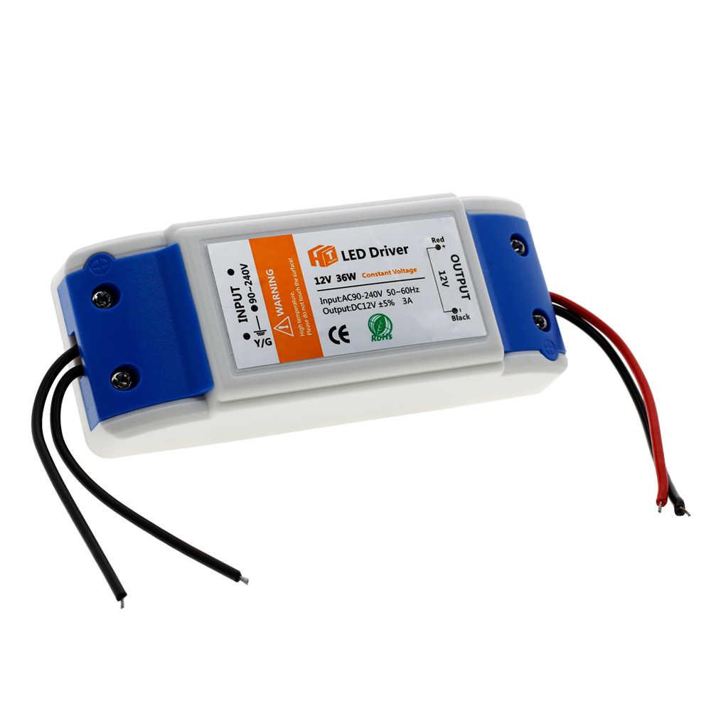 Светодиодный трансформатор освещения 12 в 18 Вт 36 Вт 72 Вт 100 Вт высококачественный безопасный драйвер для светодиодной ленты питания