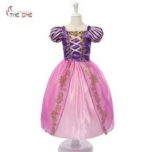 Princess Summer Dresses Kids Belle Cosplay Costume Children Rapunzel Cinderella Sleeping Beauty Sofia Party Dress