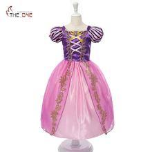 MUABABY/платье Рапунцель для девочек, Детский костюм Белоснежки, костюм принцессы, детское платье Золушки, Авроры, Софии, вечерние платье для Хэллоуина, платье для костюмированной вечеринки