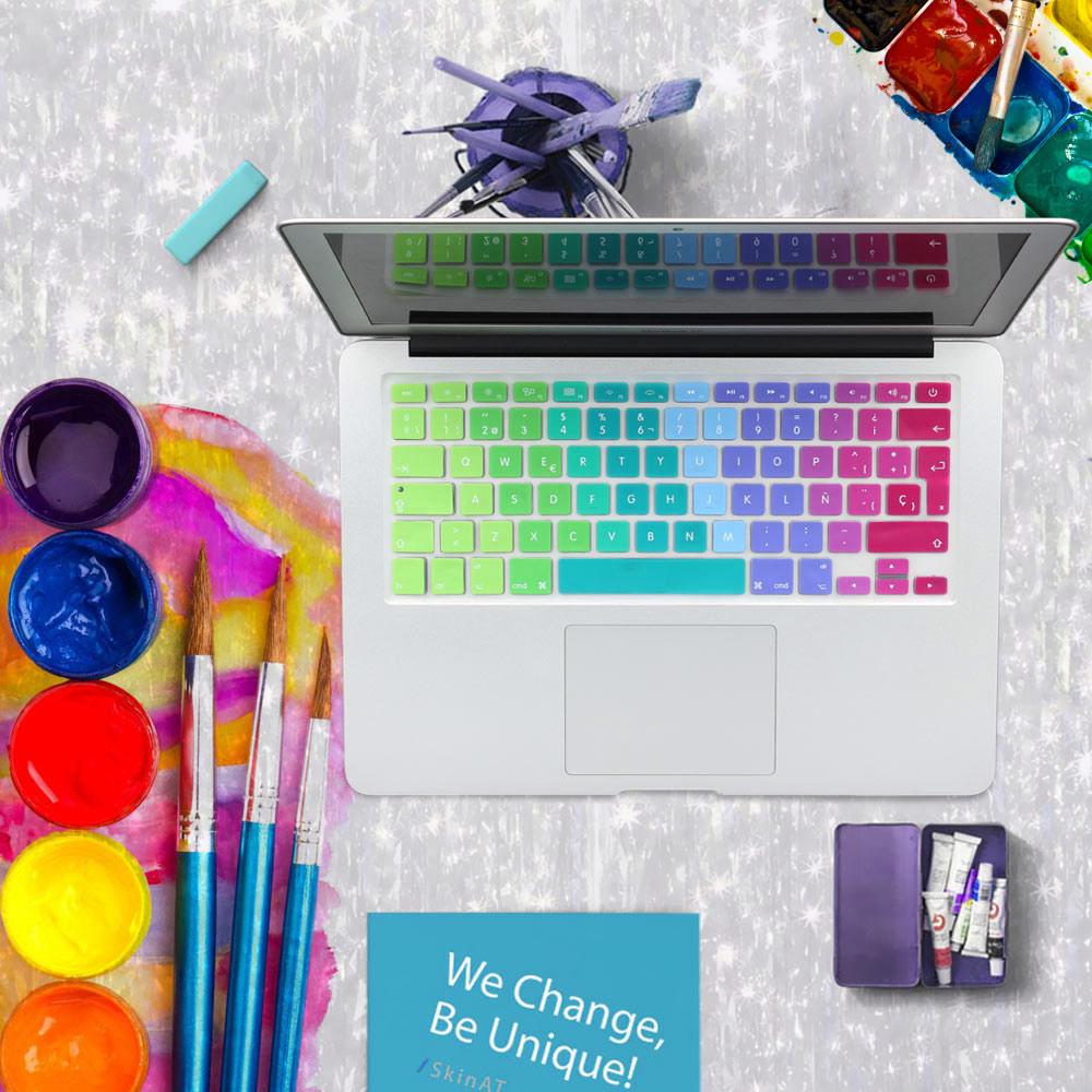 все цены на US EU UK rainbow silicon keyboard cover for Apple macbook air 13 pro 15 retina 17 inch protector for imac 21.5 wireless keyboard