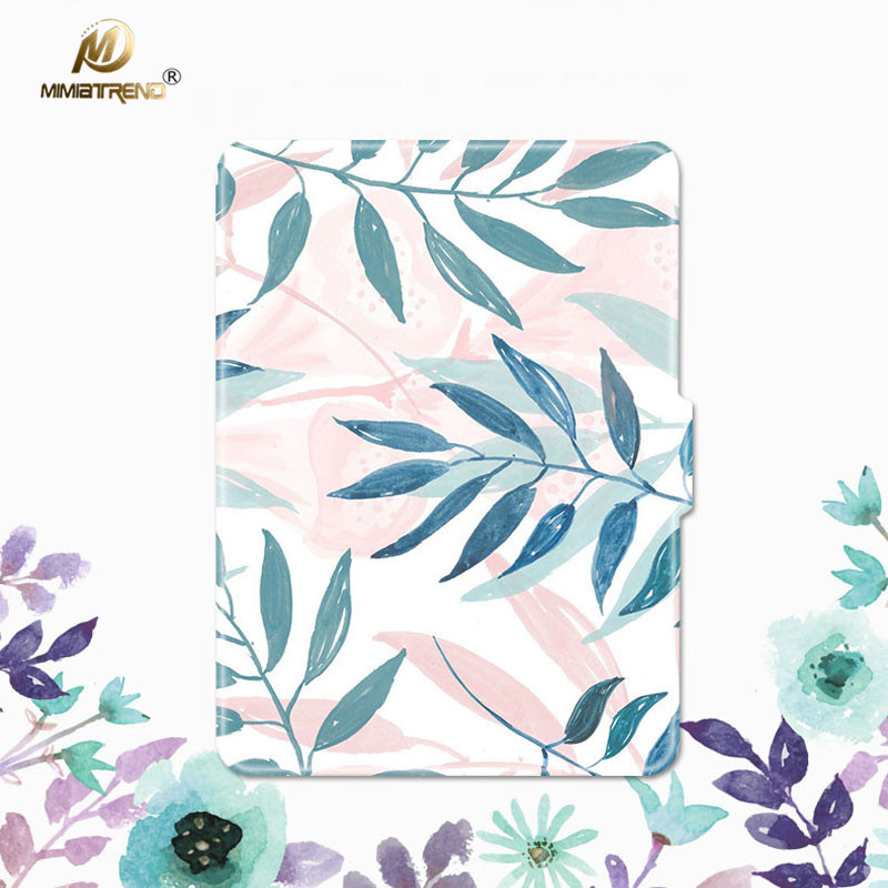 Mimiatrend Beautiful Leaves PU Cover for Amazon Kindle Paperwhite 1 2 3 449 558 Voyage C ...