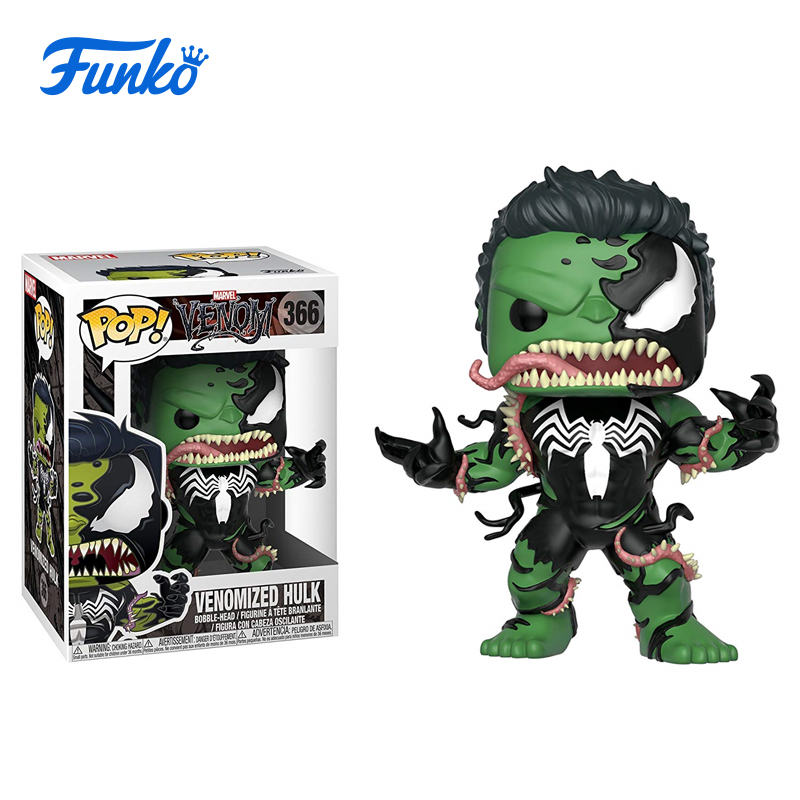 1pcs Marvel Venomized Hulk Theme FUNKO POP! Boy Girl Friend Birthday Party Vinyl Doll Gift Wedding Gift Vinyl Action&Toy Figures funko pop marvel loki 36 bobble head wacky wobbler pvc action figure collection toy doll 12cm fkg120
