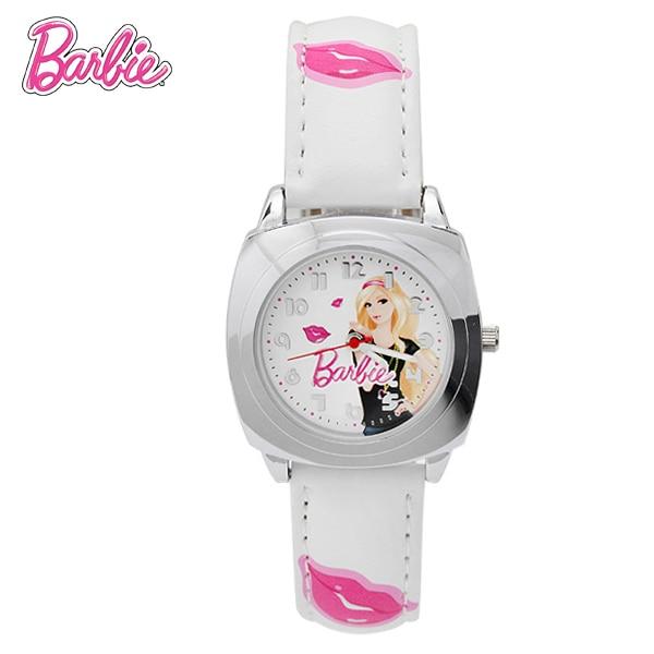100% Genuine Barbie watch Barbie kiss design White Watch girls kids Cartoon Quartz watch relogio feminino hand clocks BA00103-1