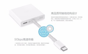 "Image 5 - Original xiaomi USB Type C to HDMI Adapter Cable 4K 3D 5Gbps USB 3.0 Type C mi notebook air 12.5 13.3 "" For Macbook /Chrombook"