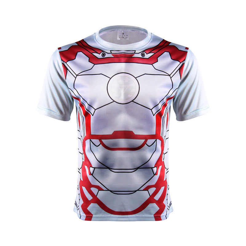 3 D Gedrukt t-shirts korte mouw T-shirt Marvel Super Hero Avenger Batman T-shirt Mannen Base Layer Thermische Onder fitness