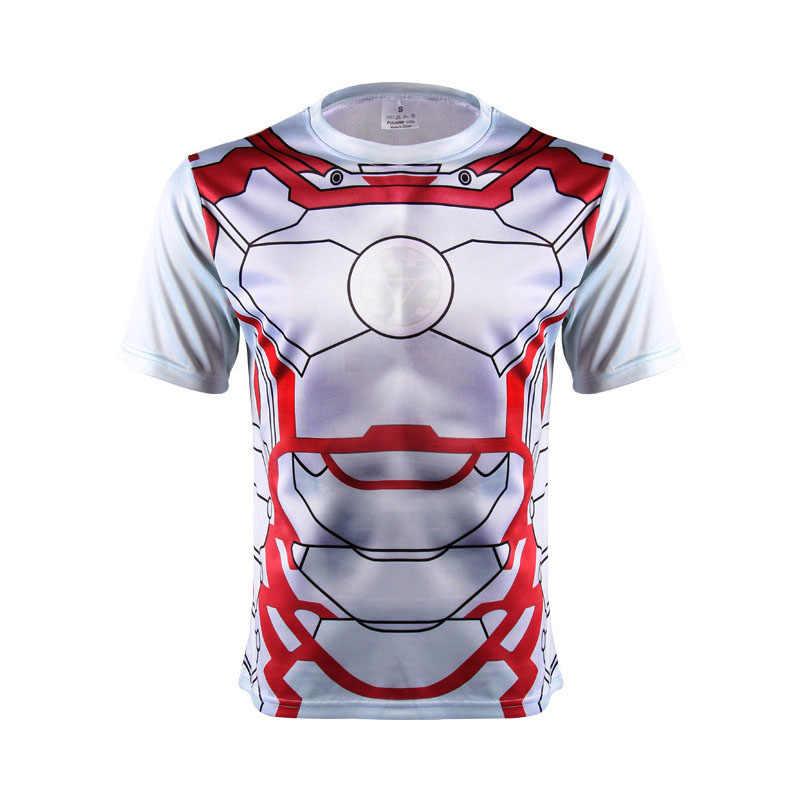 3 D Gedrukt t-shirts korte mouw T-shirt Marvel Super Hero Avenger Batman T-shirt Mannen Base Layer Thermische Onder fitness