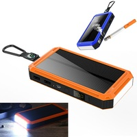 Solar Charger Cigarette Lighter Power Bank 20000mAh External Solar waterproof battery for Smartphone with LED Light
