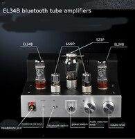 Tiancoolkei 업그레이드 된 bt-el34 10w + 10w 진공관 bluetooth 4.0 및 오디오 헤드폰 앰프가있는 단일 종단 증폭기