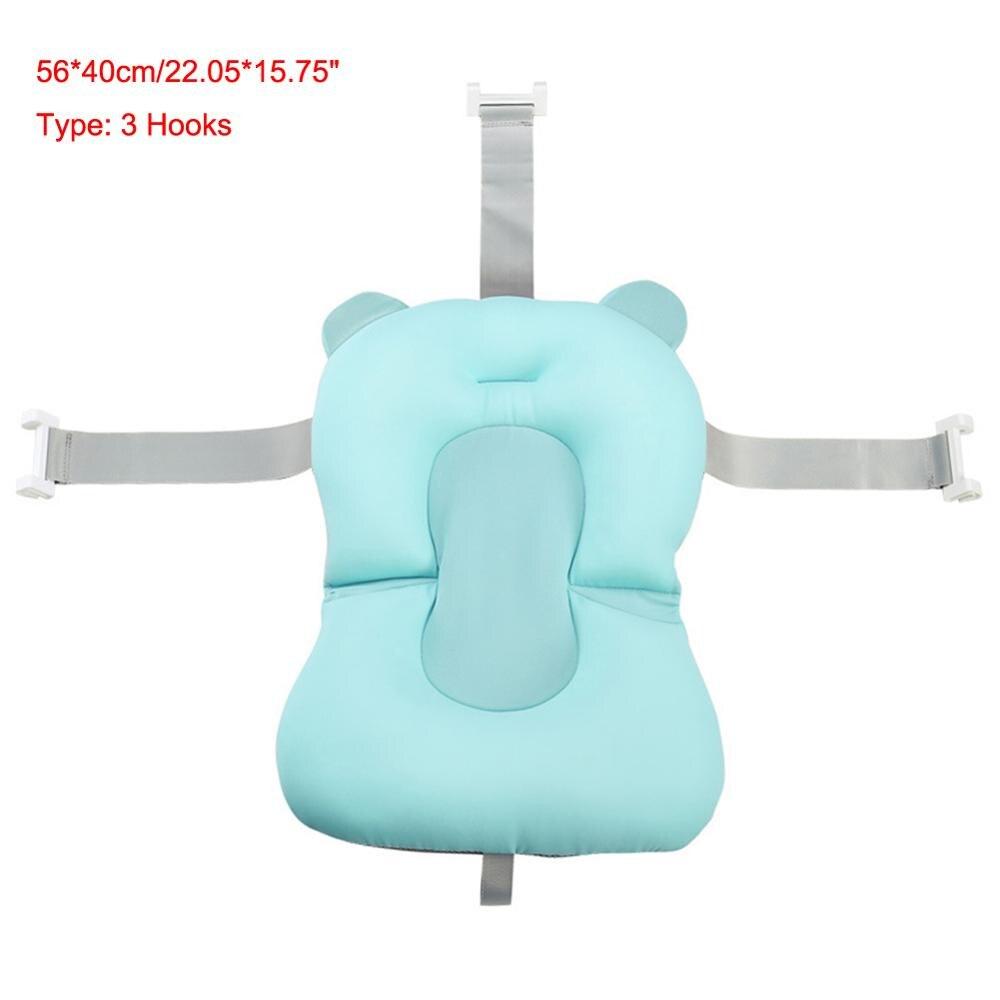 Мультяшная Детская ванна для душа, нескользящая складная детская ванна с крючками, для новорожденных, для ванны, для младенцев, подушка для поддержки ванны, мягкая подушка - Цвет: 2