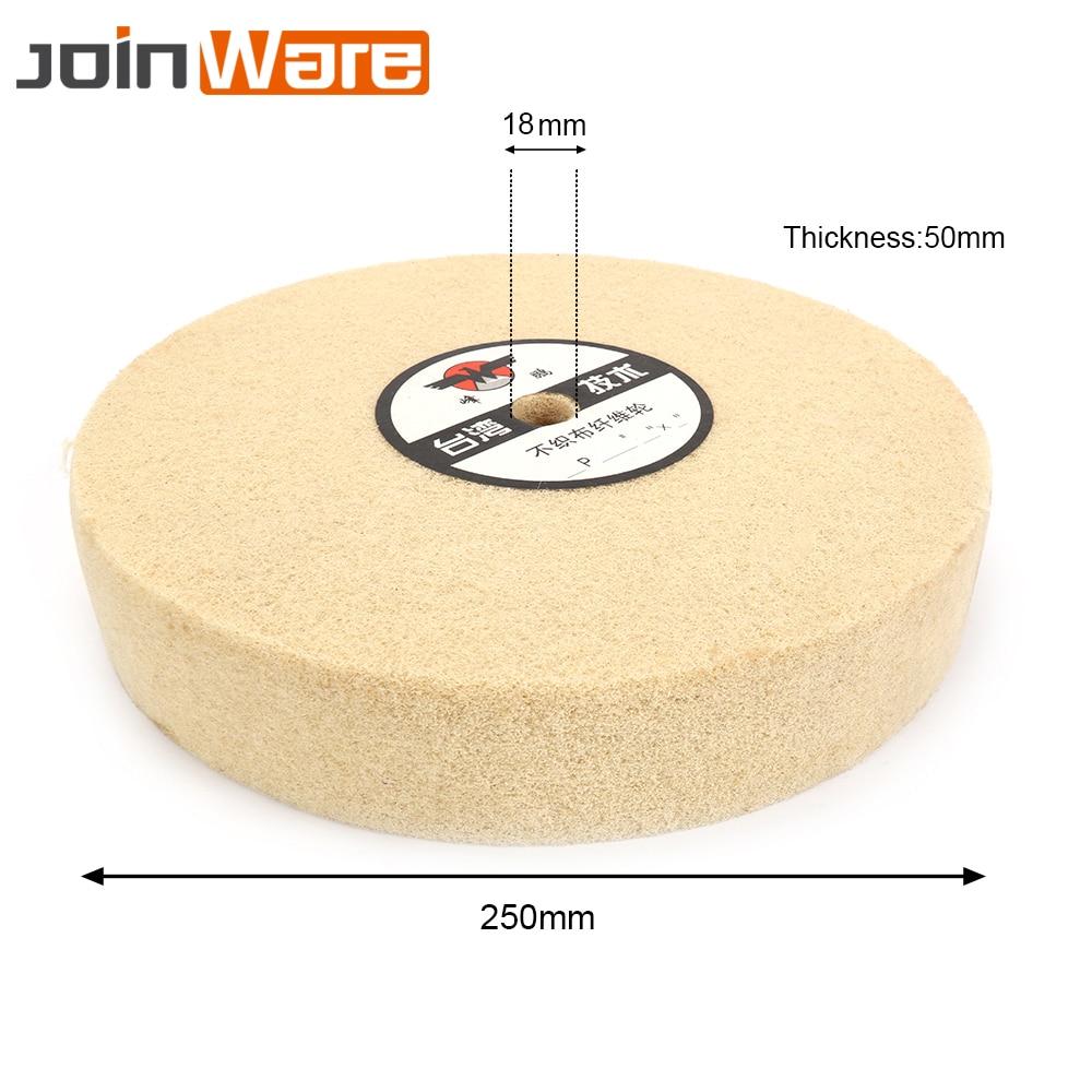 1PCS 10'' 250mm Nylon Fiber Abrasive Wheel Polishing Grinding Buffing Abrasive Disc Buffer Pad 18mm Hole 5P fiber polishing buffing wheel grit nylon abrasive 25mm thickness 7p hardness 32mm id