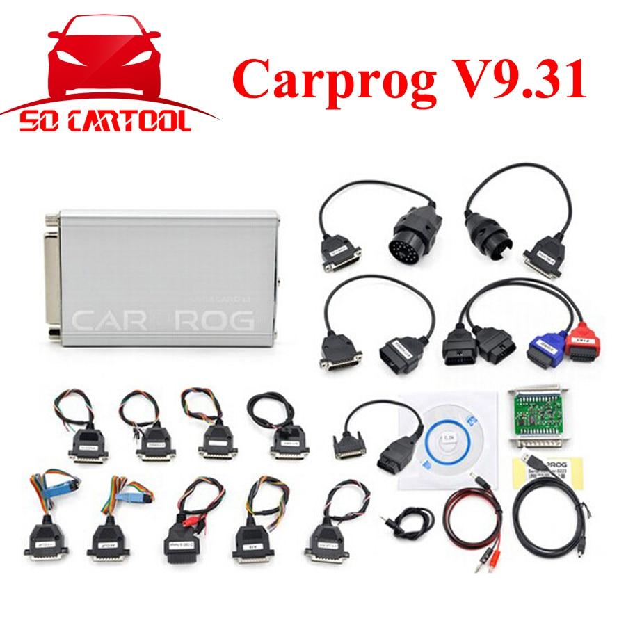 ФОТО (2PCS/Lot) Carprog V9.31 With All 21 Items Adapters Carprog Full Programmer Auto Repair Tool Car prog ECU Chip Tunning by DHL