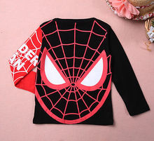 Spiderman Pullover Black/Red Tops Long Sleeve T-Shirt For 2-8Y