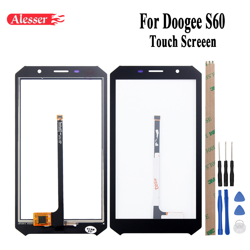 Alesser  For Doogee S60 Sensor Touch Screen 5.2 Inch Perfect Repair Parts Touch Panel+Tools+Adhesive For Doogee S60 Lite PhoneAlesser  For Doogee S60 Sensor Touch Screen 5.2 Inch Perfect Repair Parts Touch Panel+Tools+Adhesive For Doogee S60 Lite Phone