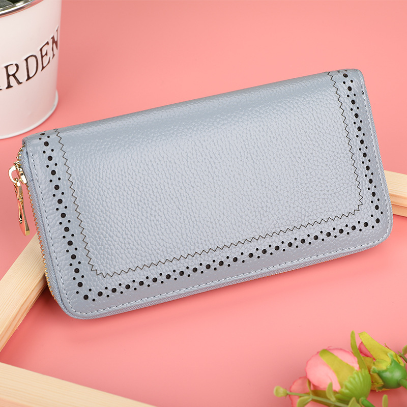 Genuine Leather Wallet Women Luxury Brand Coin Purse Ladies Long Zipper Wallets Cell Phone Wallet Female Card Holder Wallets contacts 2018 new brand design genuine leather woman wallets cell phone card holder female purse clutch women purse with zipper