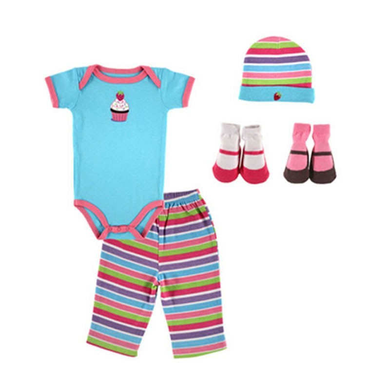 07133 New 5 pieces Baby Girl Boy Clothes 2016 100% Cotton Newborn Baby Clothing Sets Infants Suit Bebes Next Baby Clothing (3)